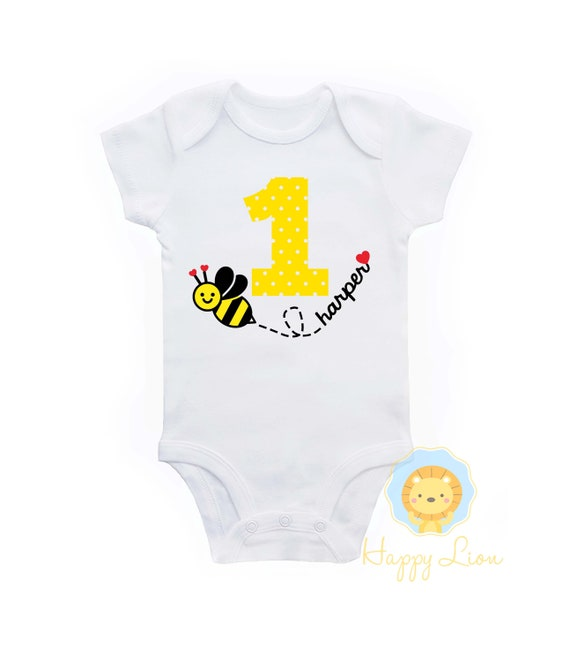 Bee 1st Birthday Shirt Bumble Outfit Girls