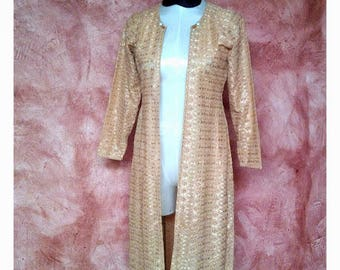 Gold embroidered long jacket