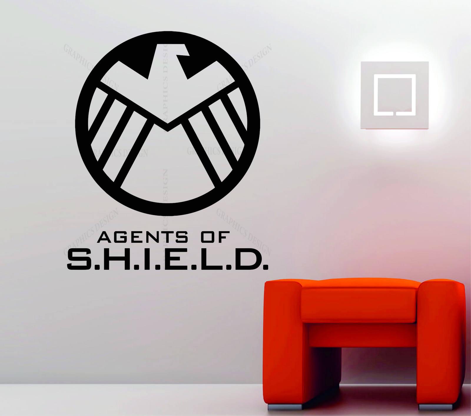 Marvel agents of s h i e l d shield symbol decorative vinyl wall sticker decal
