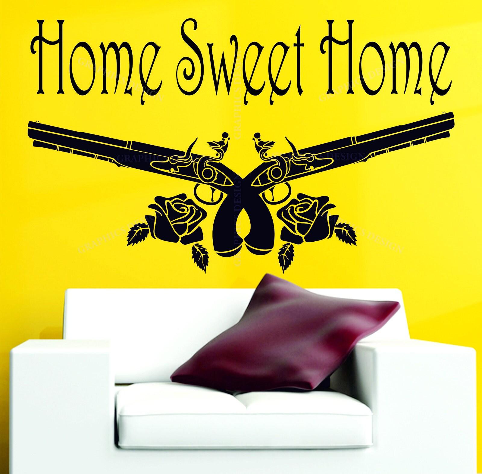 Home Sweet Home Guns N\' Roses Decor GNR Vinyl Wall Sticker Art ...