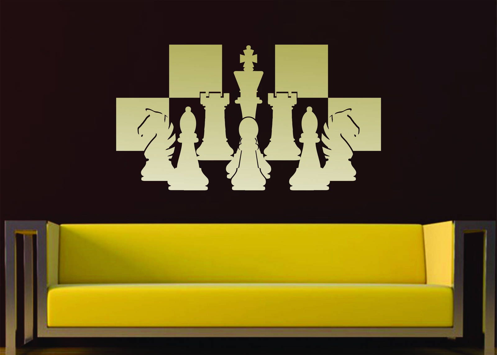 Chess Pieces Chessboard Setup Board Game Strategy Vinyl Wall Art ...