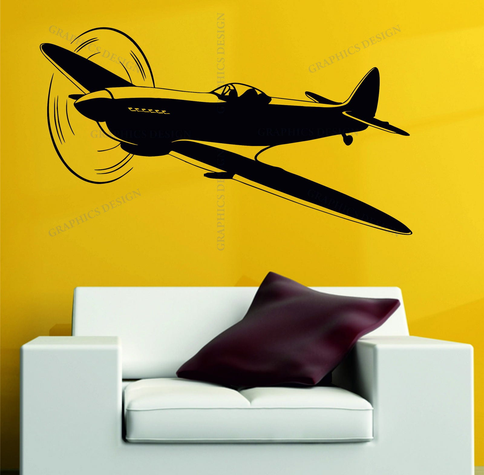 Spitfire Plane Army WW2 RAF Airoplane Military Aviation Plane Decor ...