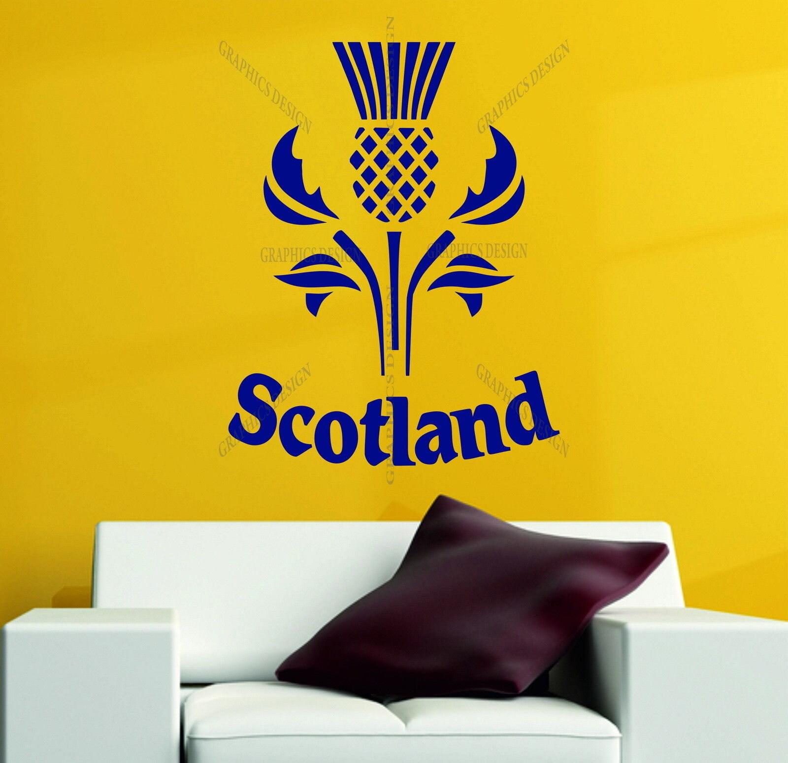 Scotland Thistle Scottish Car Van Wall Sticker Decor Vinyl Decal ...