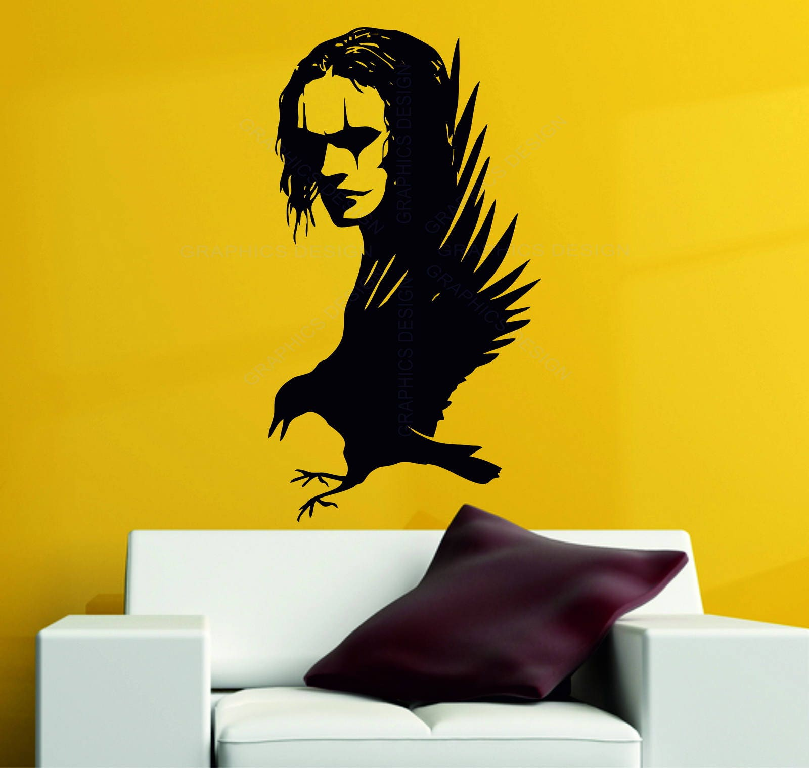 The Crow Brandon Lee Gothic Movie Legend Wall Art Stickers Decals ...