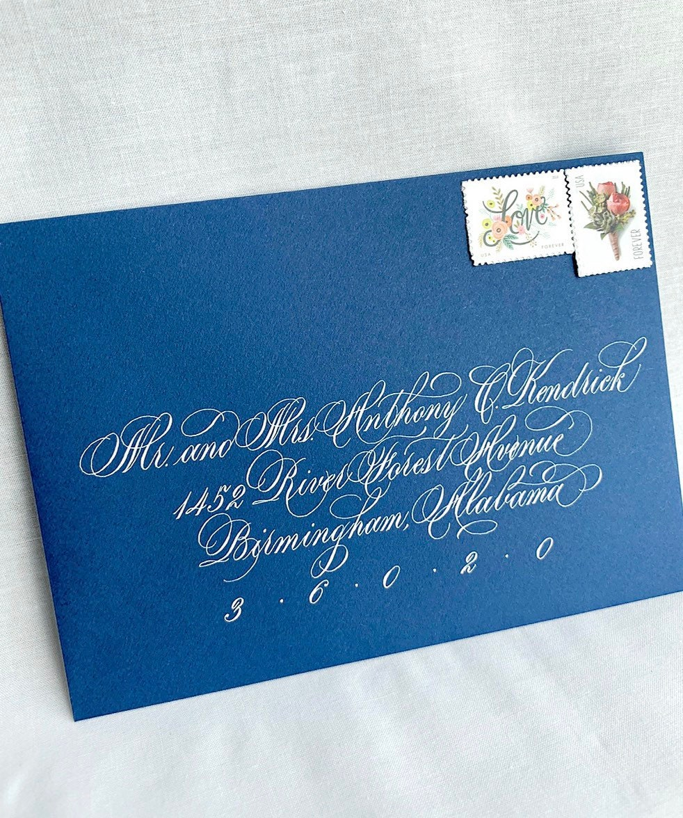 Hand Calligraphy Envelope Addressing For Wedding