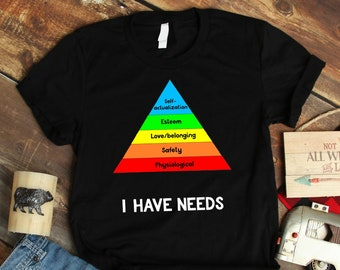 dbb3c14a Funny Psychology Shirt Hierarchy Of Needs Psych Major Gift Psychiatrist Tee