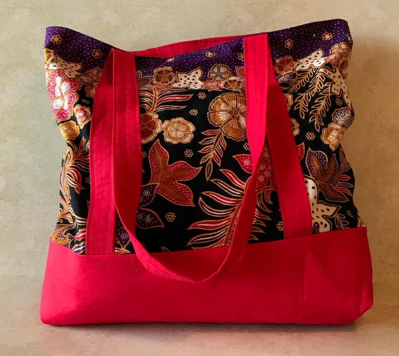 HOPE TOTE  Handmade Grocery Tote Bag/Reuseable Market Tote image 0