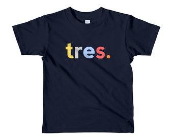 3rd Birthday Shirts For Boys 3 Tres Anos