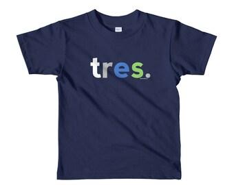 Spanish Nino Gifts Age Three Year Old Youth Birthday Shirt 3rd Birthday Shirts for Boys 3 Tres Anos