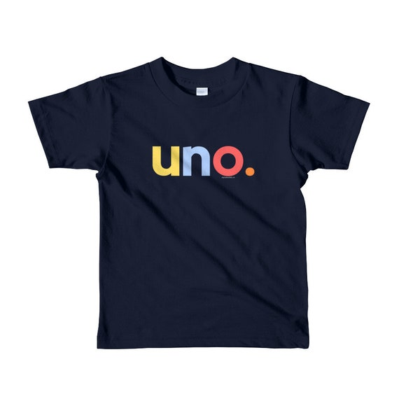 1st Birthday Shirts For Boys 1 Uno Anos Age One Year Old