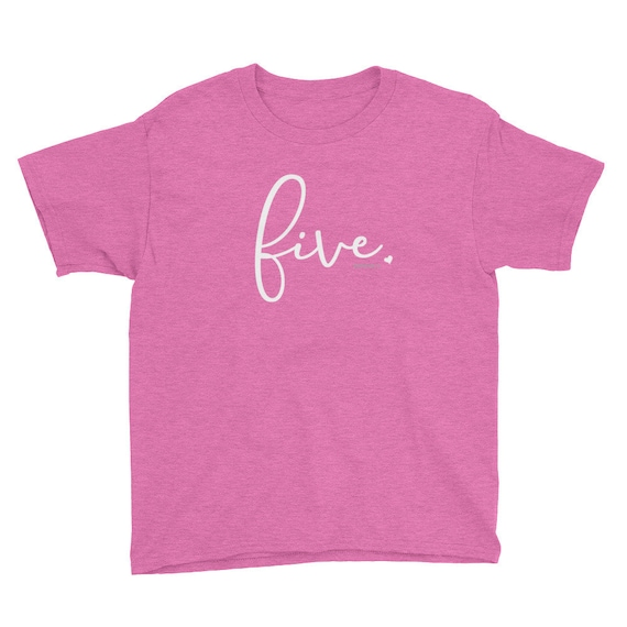 5th Birthday Shirts For Girls 5 Kids Gift Ideas Age Script