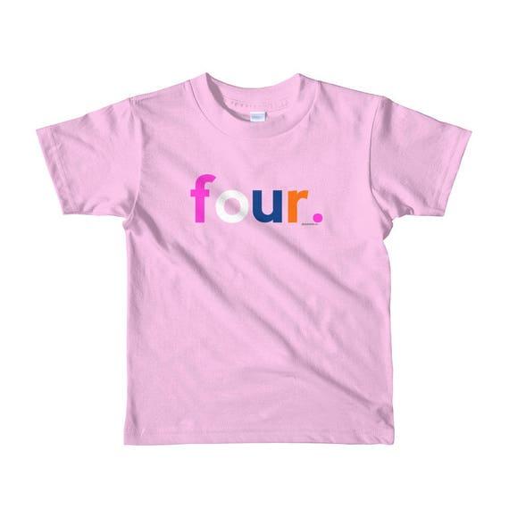 4th Birthday Shirts For Girls 4 Gifts Kids