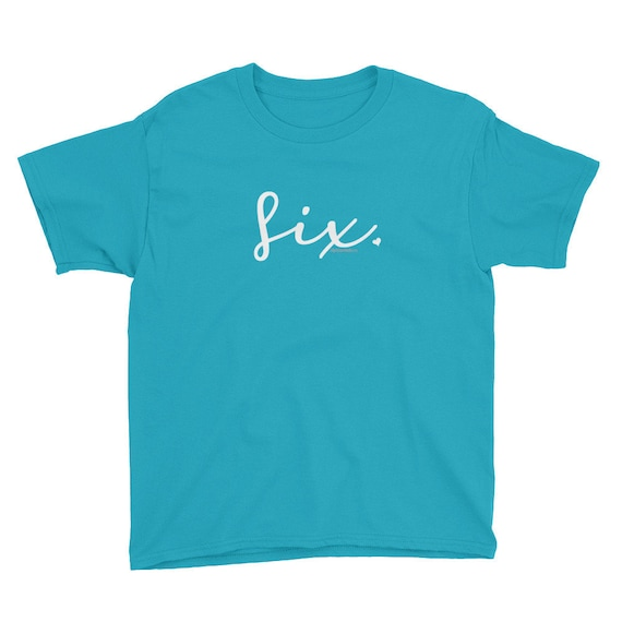 6th Birthday Shirts For Girls 6 Kids Gift Ideas Age Script