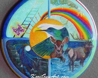 Hummer/Eagle Medicine Wheel