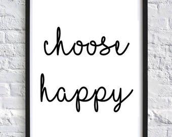Choose Happy Wall Art