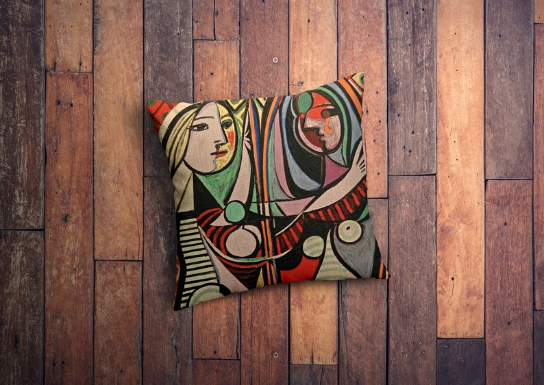 Printed on Linen Cotton Abstract Cushion Cover