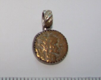 Necklace w/ pendant made from ancient Greek coin !!