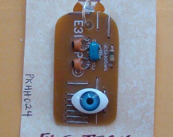 recycled circuit board made into pendant / necklace !!