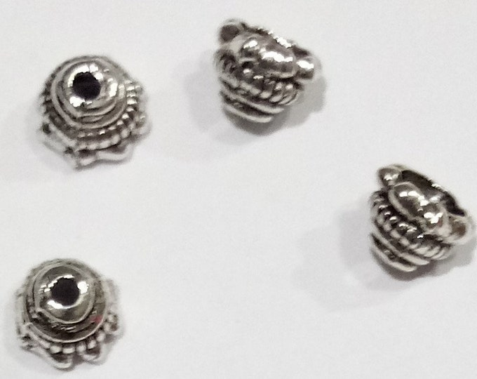 Bead caps 5mm Antique Silver flower DIY Jewelry Making Findings.