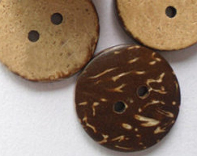 23mm  Buttons with 2-Hole Coconut Buttons  DIY Craft Supplies Findings.
