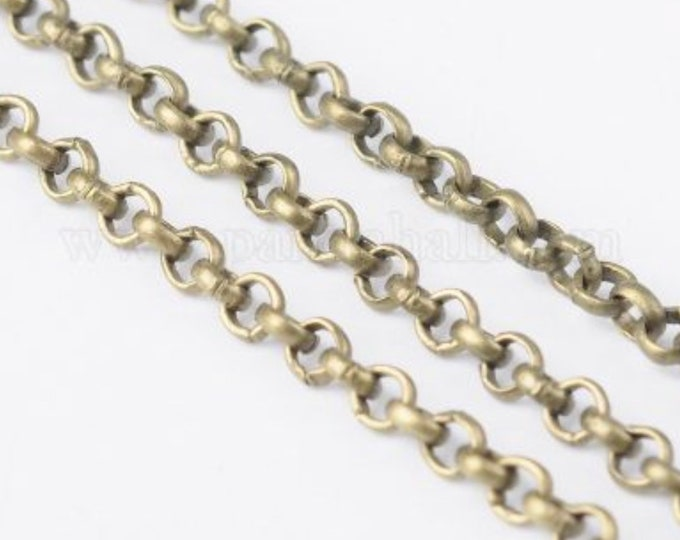 2.5mm Rolo Chain antique bronze Finding  DIY Jewelry Making Supplies Findings