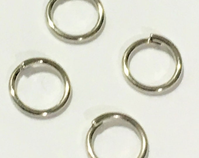 Silver JumpRings 4mm / 5mm /6mm in diameter, 0.7mm thick Close but Unsoldered, Antique Silver DIY Jewelry Making Findingsplp