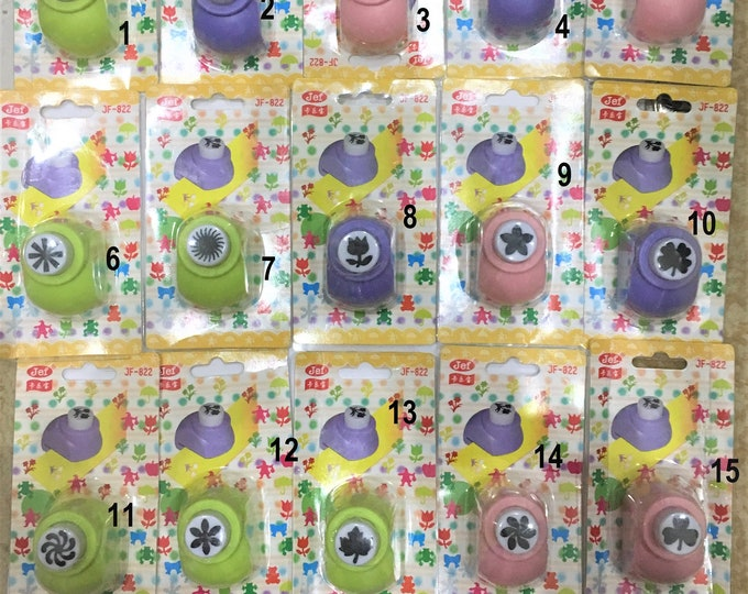 Punch Craft Paper Shapes Mixed Colors DIY Craft Supplies Findings.
