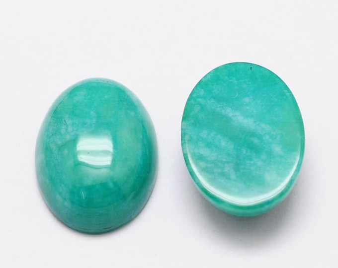 25x18mm Turquoise Gemstone Cabochon Oval DIY Jewelry Making Findings.