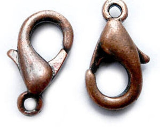 6x10mm Claw Clasps Red  Lobster Copper Hole: 1mm, DIY Jewelry Making Supplie Findings.