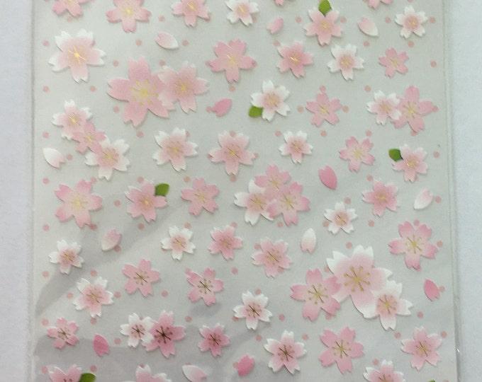 Cherry Blossom Stiker Flower Craft Sticker Sheet for Planning, Journaling, Collecting or Scrap booking 1 sheet.
