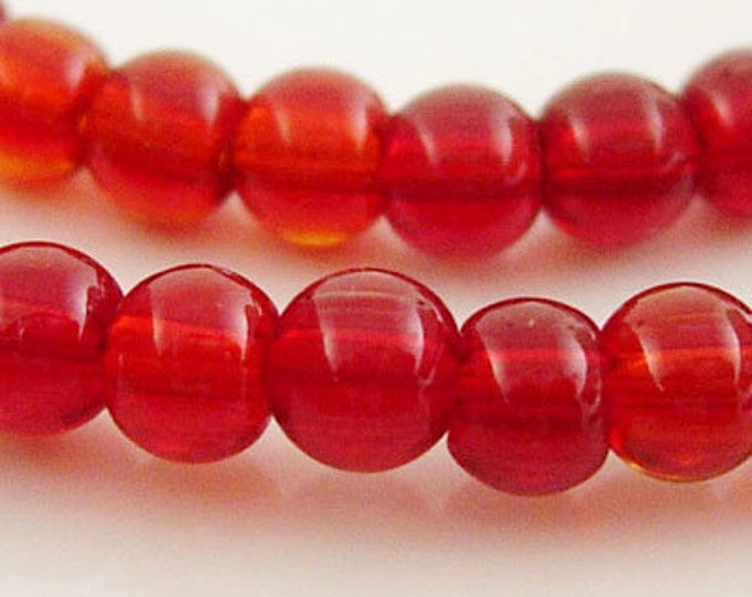 10mm Glass Beads Strands Red Color Round Beads  DIY Jewelry Making Supplies and Findings.