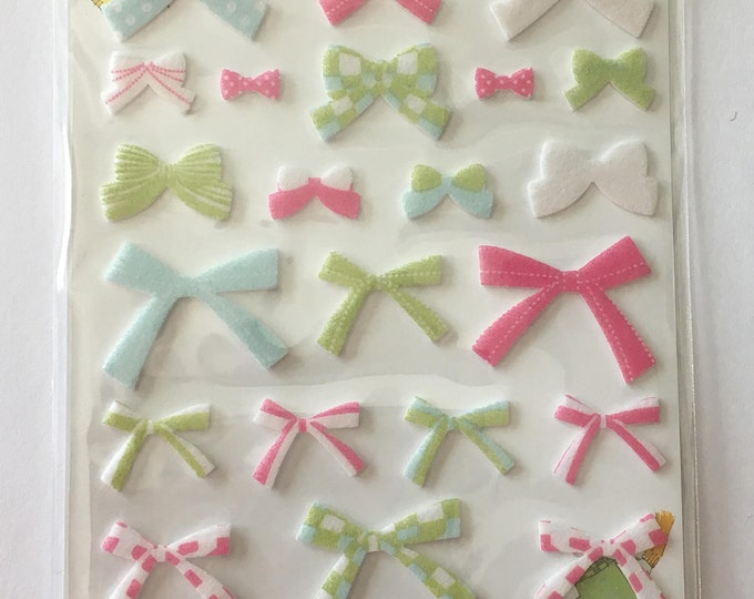 Sticker Blue Ribbon Craft for Planning, Journaling, Collecting or Scrapbooking 1 Sheet