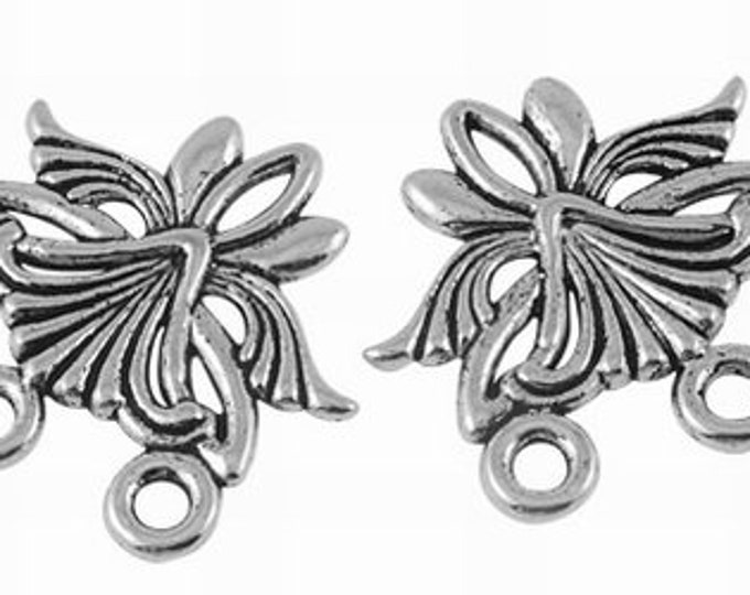 27mm Connectors Flower Antique silver DIY Jewelry Findings.