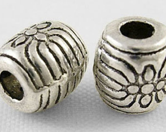 6x6mm Spacer beads Hole: 2mm Antique Silver DIY Jewelry Making Supplies  Findings.