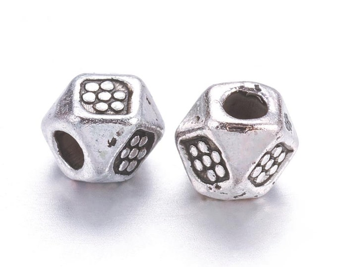 3mm Facted Spacer Beads Antique Silver DIY Jewelry Making Supplies  Findings.