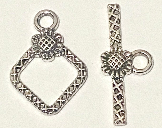 21x15mm Toggle Clasps Rhombus Antique Silver  DIY Jewelry Making Supplie  Findings.