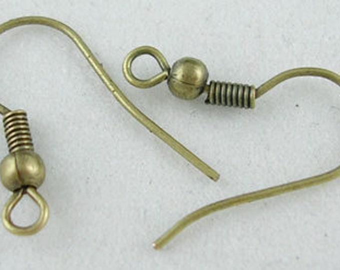 18mm Hook Earrings Bronze DIY Jewelry Making Findings.