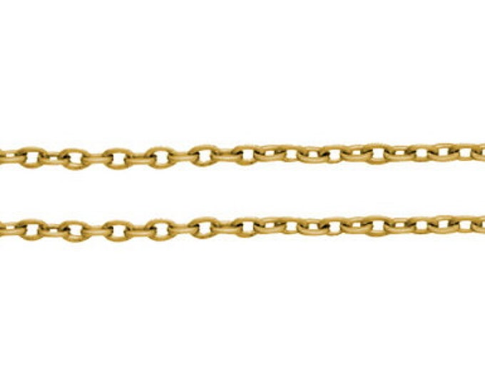 3x2mm Chain Golden color cross chain DIY Jewelry Making Findings.