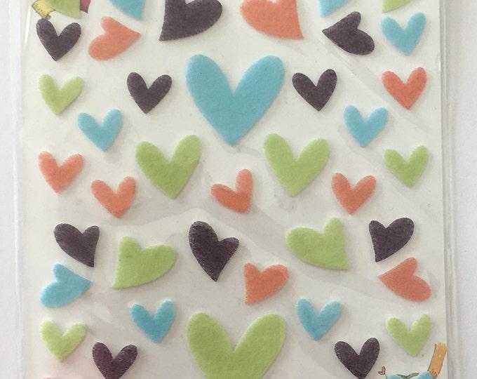 Heart Sticker Sheet for Craft Planning, Journaling, Collecting or Scrapbooking 1 Sheet