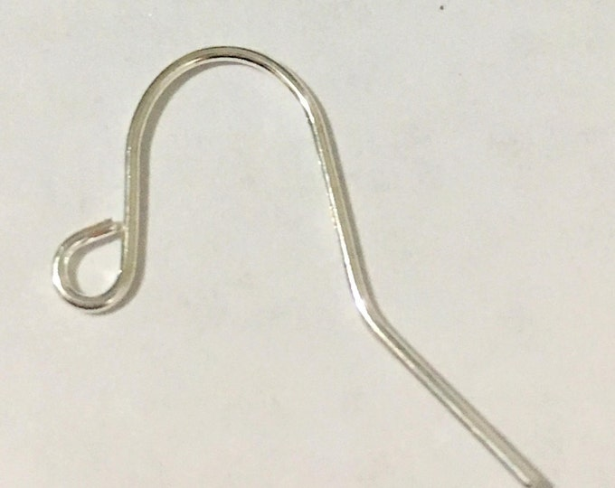 17mm Earring Hooks long, Silver DIY Jewelry Making Findings