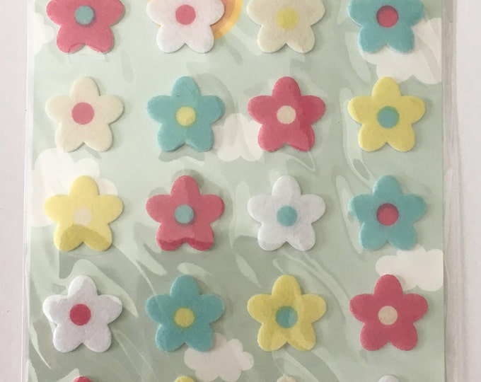 Flower stickers 24pcs mixed colors DIY Craft Supplies Findings. 1 Sheet