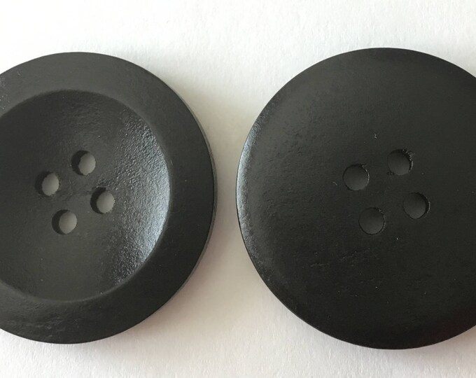 30mm Black Buttons Wooden 4 Hole Buttons DIY Craft Supplies Findings.