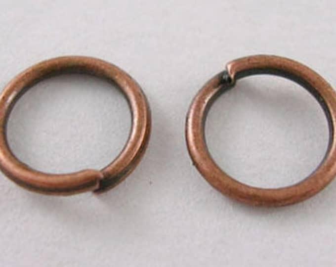 Jump Rings 4mm / 6mm / 8mm in Red copper rings diameter, DIY Jewelry Making Findings.