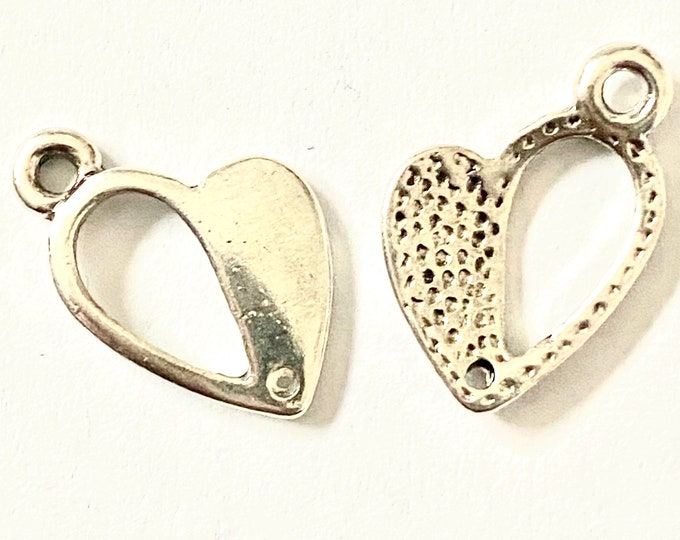 17 mm Heart Pandent Antique silver DIY Jewelry Findings.