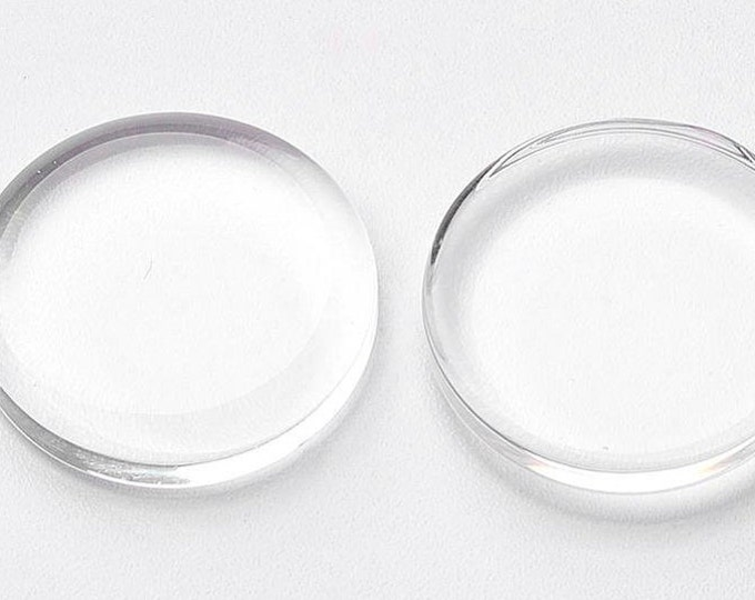 18mm Flat Glass 18mm Cabochon Round Clear  Domes DIY Jewelry Pendant Bracelet Necklaces.