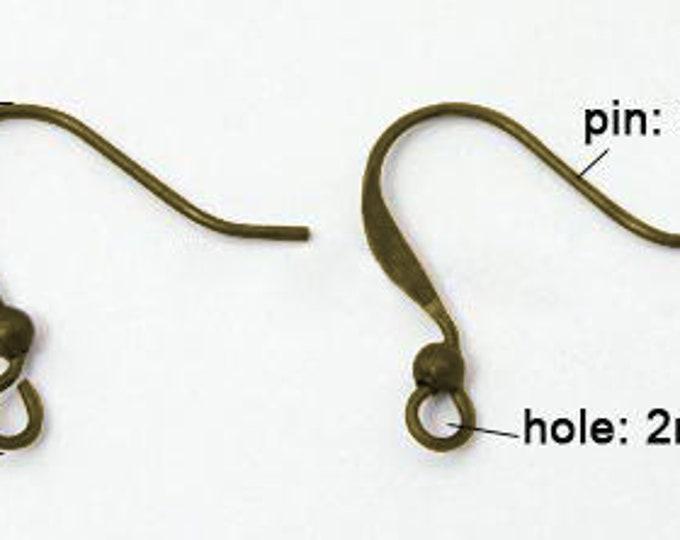 17mm Earring Hooks DIY Antique Bronze Earring Jewelry Making Supplies Findings.