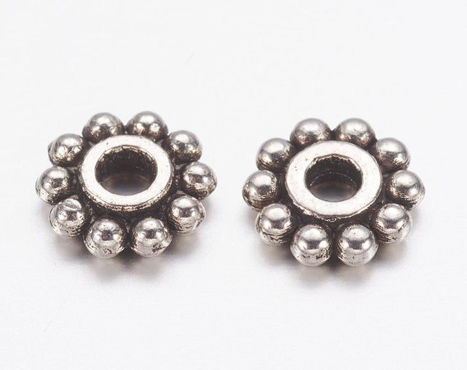 6mm Spacer Beads Antique Silver DIY Jewelry Making Supplies  Findings.