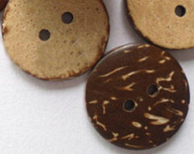 15mm Buttons Coconut Round Buttons 2 Holes DIY Craft Supplies Findings.