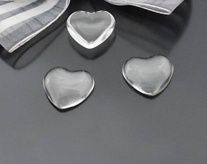 10x10mm Heart Glass Cabochons Bezel Domes DIY Jewelry Pendant Bracelet Necklaces.