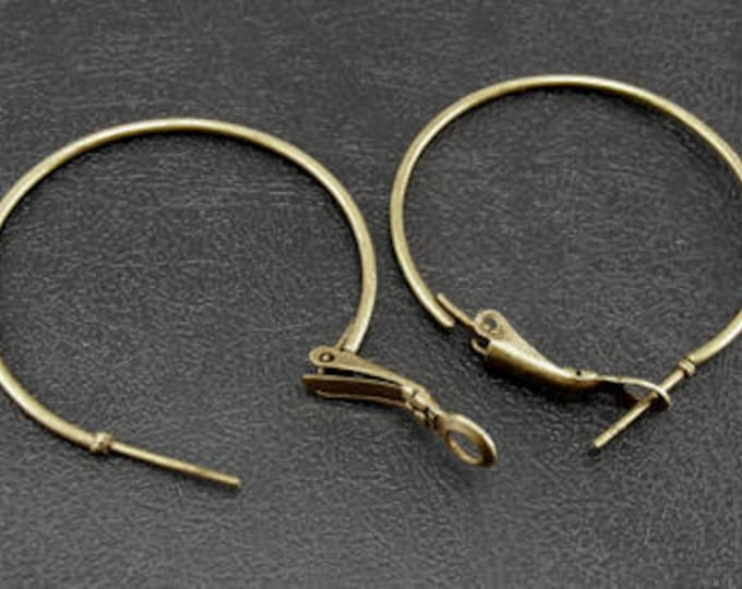 35mm Earring Hoop  DIY Jewelry Making Findings.
